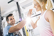 Young couple after training at gym - MADF000211