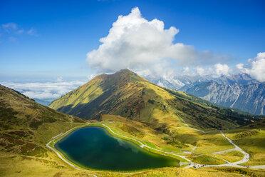 Germany, Bavaria, Allgaeu Alps, artificial lake at Fellhorn - WGF000642