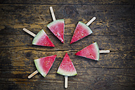 Circle of six watermelon popsicles - LVF003349