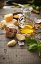 Ingredients of basil pesto - KSWF001468