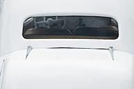 Rear window of white Citroen 11CV - BSC000450
