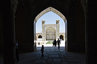 Iran, Shiraz, Vakil Mosque, View into the courtyard from the Shabestan - FL000955