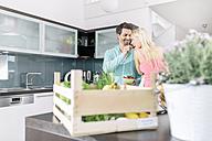 Man feeding his girlfriend with strawberries - MADF000247