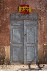 Morocco, closed entrance door of a shop - HSK000019