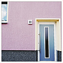 Coloured house front in Dessau, Germany - MEM000734