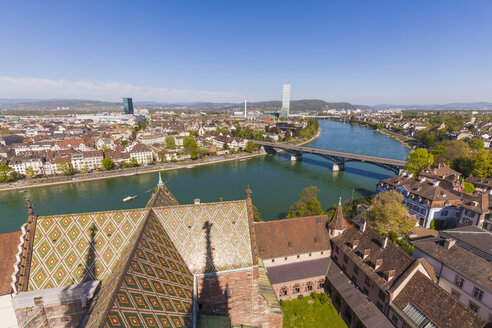 Switzerland, Basel, city view from the Minster - WDF003090