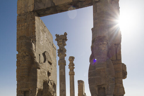 Iran, Persepolis, The Gate of All Nations at backlight - FLF000972