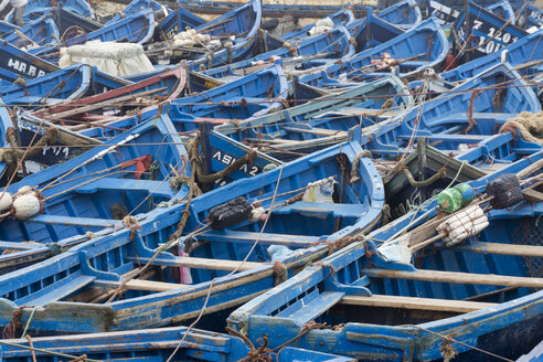Morocco, Essaouria, fishing boats in the harbour - HSKF000026