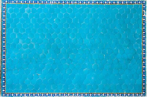 Iran, Yazd, tile work of Jameh Mosque - FLF000979