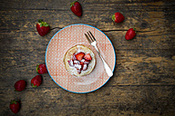 Pancakes with strawberry sauce and strawberries - LVF003372
