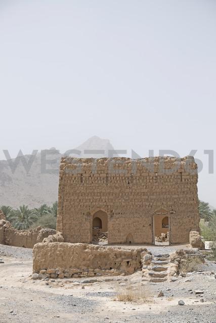 Oman, Tanuf, destroyed loam house settlement - HLF000884