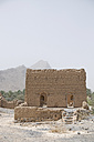 Oman, Tanuf, destroyed loam house settlement - HLF000884