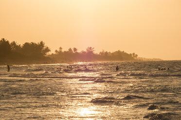Cuba, Guanabo, people bathing in the Caribbean Sea - FBF000382
