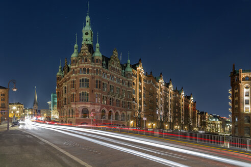 Germany, Hamburg, buildings in the old Warehouse District - NKF000255