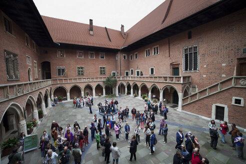 Poland, Krakow, courtyard of Collegium Maius - ABO000018