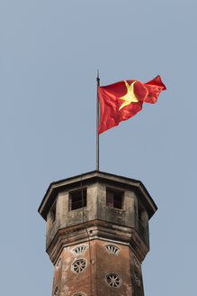 Vietnam, Hanoi, Imperial Citadel of Thang Long, Vietnamese flag - SJF000146