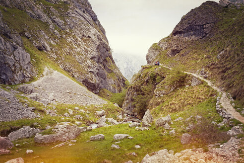 Spain, Asturias, Pico de Europe, hiking trail to gorge of Garganta del Cares - MEMF000741