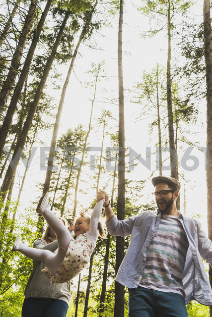 Happy family in forest - UUF004296