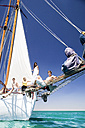 Friends on bow of a sailing ship - TOYF000855