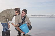 South Africa, Witsand, father and son on the beach - ZEF005303