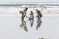 South Africa, Witsand, family playing on the beach - ZEF005316