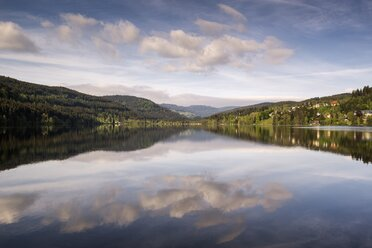 Germany, Breisgau-Hochschwarzwald, water reflections on Titisee at Black Forest - ELF001500