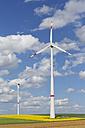 Germany, Bavaria, Lower Franconia, wind turbines - SIEF006584