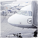 Frankfurt airport, German  Lufthansa, Frankfurt, Germany - MS004604