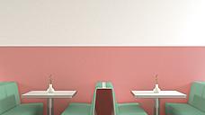 Interior of American Diner, 3D Rendering - UWF000508