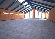 Empty industrial hall, 3D Rendering - ALF000536