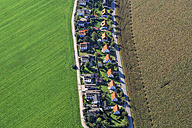Germany, Poing, aerial view of  one-family houses settlement - KLEF000014