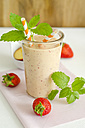 Glass of nectarine strawberry smoothie - ODF001132