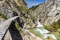 Austria, Tyrol, Karwendel, Samer Valley, Gleirsch gorge, Gleirschbach creek - STSF000798
