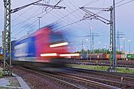 Germany, Hamburg, railway track with freight traffic - MS004624
