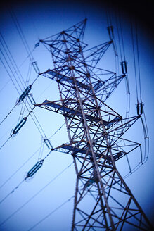 Power pylon in front of blue sky - MHCF000005