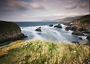 Spain, Galicia, Ferrol, landscape in the coast in a windy day - RAEF000196