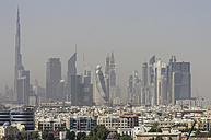 United Arab Emirates, Dubai, Skyline with Burj Khalifa - THAF001364