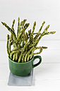 Cup with green asparagus - EVGF001771