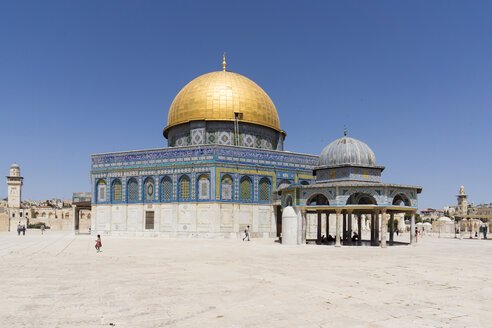 Israel, Jerusalem, view to Dome of the Rock at temple mount - WEF000350