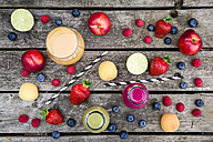 Different fruit smoothies and fruits - SARF001880