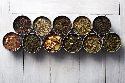 Tins of different sorts of tea - KSWF001542