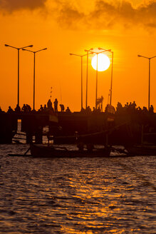 Indonesia, Bali, Jimbaran, Sunset at the ocean - KNTF000048