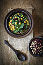 Arabic spinach soup with chick peas, kidney beans and red lentils - EVGF001849