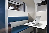 Modern office cubicle with noise protection partition wall - PDF001056