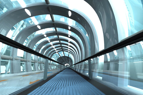 3D Rendered Illustration, Architecture visualization of a futuristic subway or train station - SPCF000049