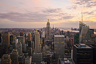 USA, New York State, New York City, Manhattan, Skyline at sunset - GIOF000009