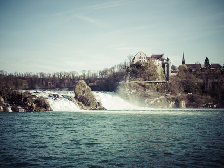 Switzerland, Schaffhausen, Rhine falls with Laufen Castle - KRPF001490
