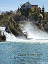 Switzerland, Schaffhausen, Rhine falls with Laufen Castle - KRP001492