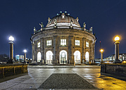 Germany, Berlin, view to lighted Bode Museum at Museumsinsel - TAM000261