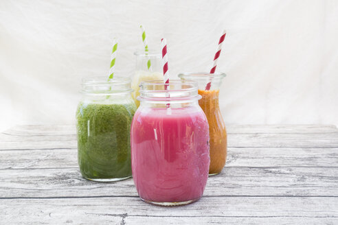 Four glasses of different smoothies - LVF003605